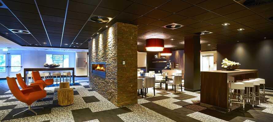 Hotellet præges hele vejen igennem af et moderne og elegant finish