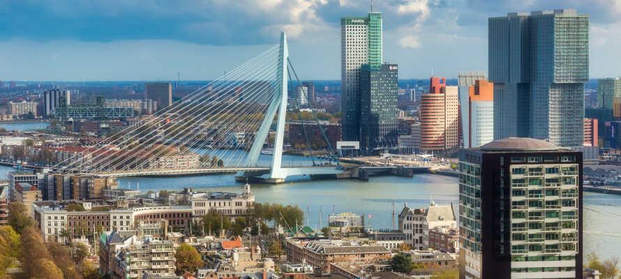 Tag på spændende udflugter og oplev f.eks. Hollands største nationalpark eller besøg den charmerende havneby Rotterdam.