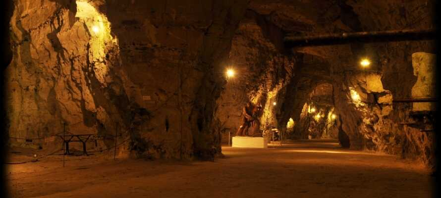 Besök denna fantastiska gruva, med en otrolig stämning där ni kan uppleva unik konst i en vacker miljö.
