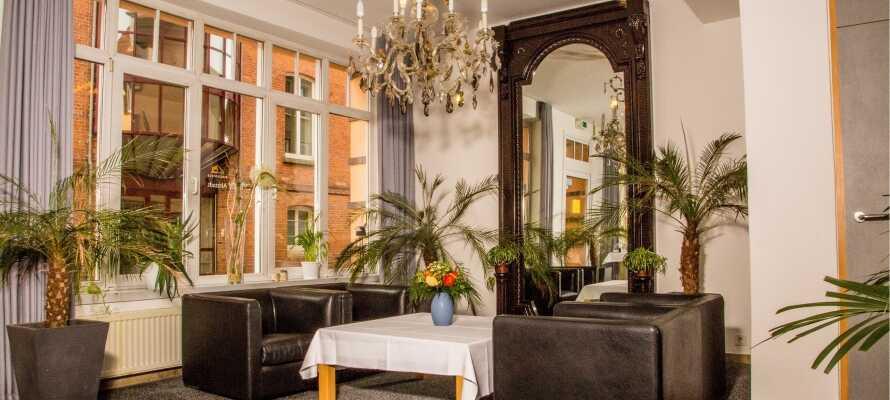 Den stemningsfulde indretning på Ringhotel Altstadt Güstrow indbyder til afslapning og hygge.