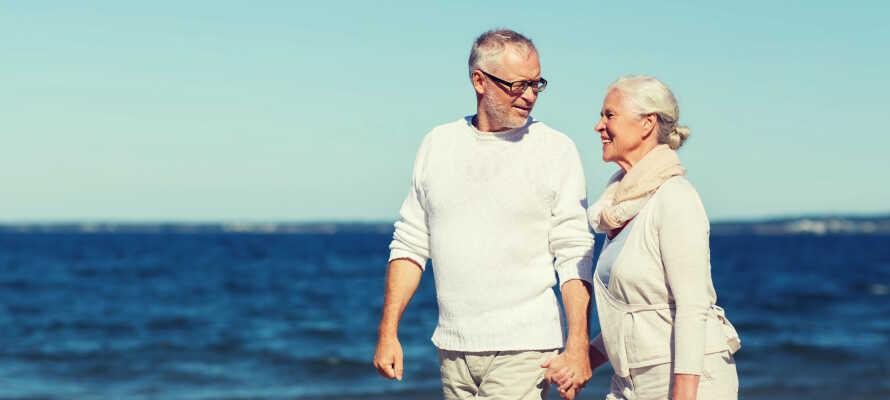 Sie wohnen nahe am Meer, was für lange Spaziergänge in die schöne Umgebung ideal ist.