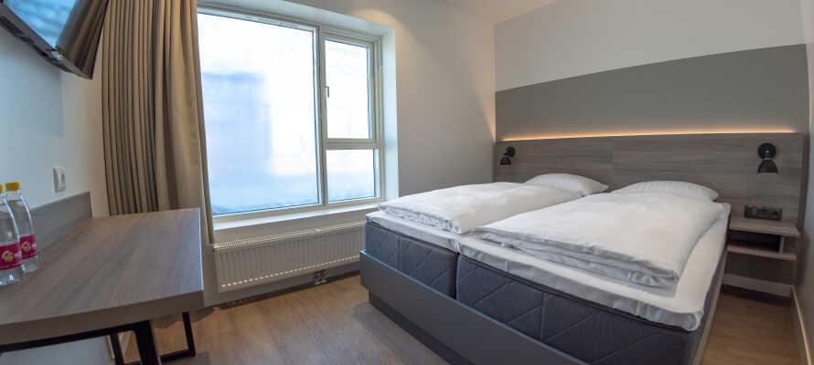 Die Premium Zimmer sind hell und stilvoll eingerichtet und bieten eine gute Basis für Ihren Aufenthalt.