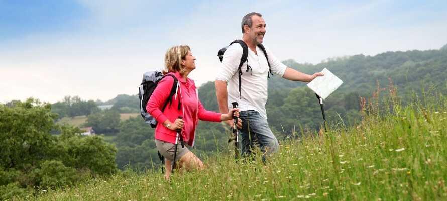 På hotellet får ni en vandringskarta och matlåda om ni vill ut och vandra.