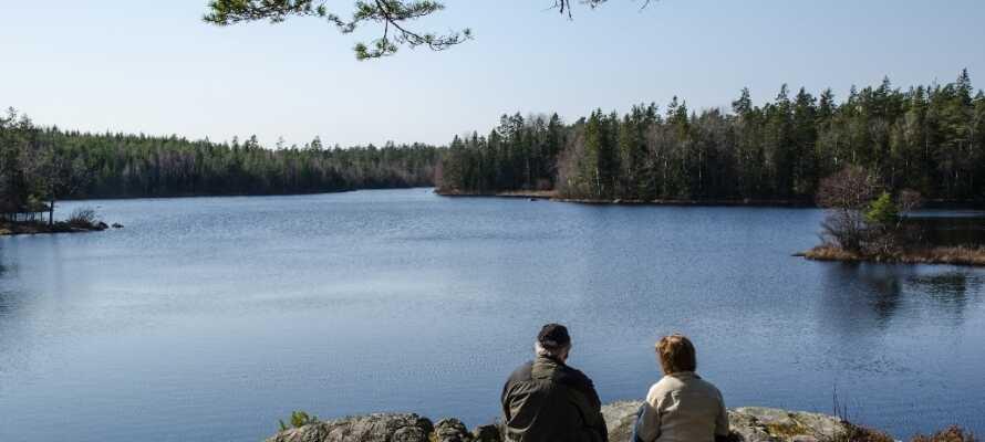 Utforska den fantastiska naturen i Småland, vars landskap består av skogar, sjöar, skärgård och gröna ängar.