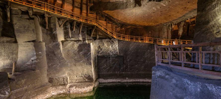 Missa inte att besöka den berömda saltgruvan i Wieliczka.