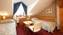 Exempel på ett av hotellets dubbelrum i annexet.