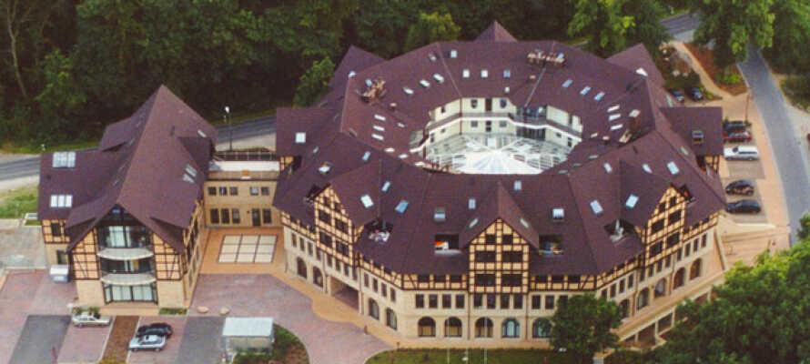 Privat ejet hotel lige uden for Schwerin på en smuk beliggenhed i udkanten af den herskabelige landskabspark.