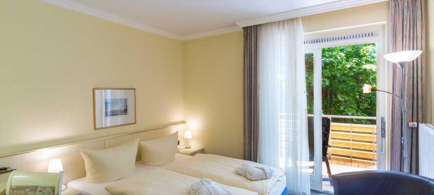 De flotte og moderne værelser tilbyder et lækkert, 4-stjernet komfortniveau under ferien.