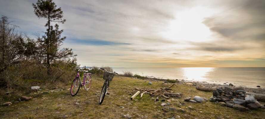 Lej en cykel på hotellet og drag ud i de fantastiske naturomgivelser