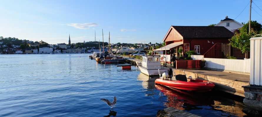 Besuchen Sie den maritimen Ort Arendal, der in geringer Entfernung zum Hotel liegt