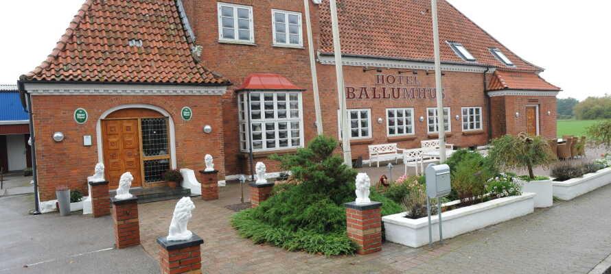 Det charmerende Ballumhus har en suveræn beliggenhed klods op ad Nationalpark Vadehavet.