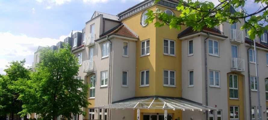 ACHAT Comfort Messe-Leipzig ligger i ett lugnt område utanför den spännande staden Leipzig i forna Östtykland.