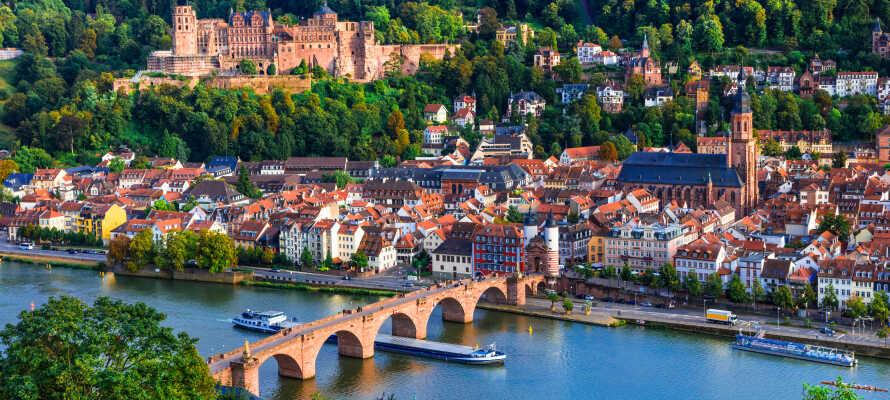 Machen Sie einen Familienausflug nach Heidelberg, in die schöne Altstadt und ins berühmte Schloss.