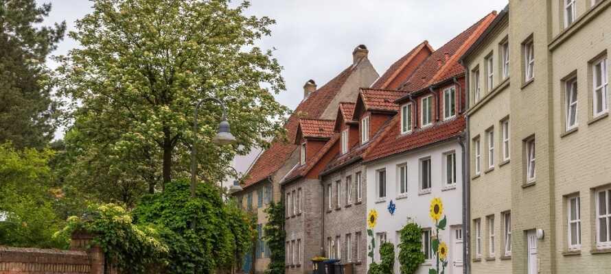 Flensburg har et sjarmerende bysentrum fullt av små smug og brosteinsbelagte gater.
