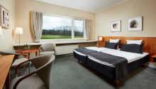Hotellet har en rolig beliggenhed i Fredericia