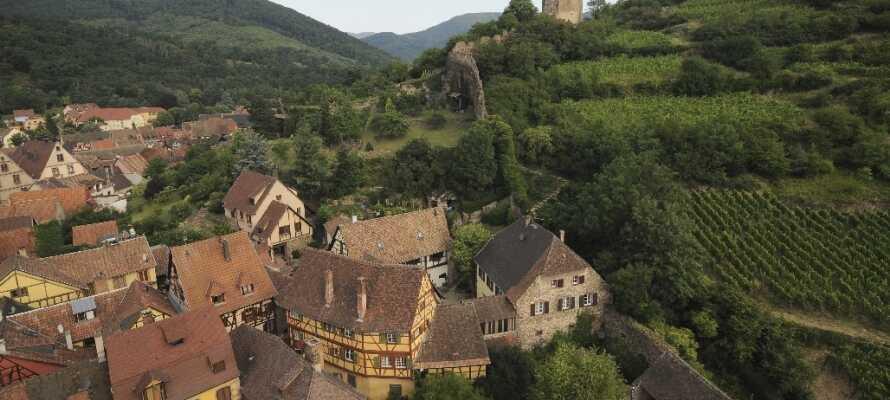 Hotellet ligger i den lilla traditionella byn Bonhomme, där ni finner utbud av goda viner och trevliga restauranger.
