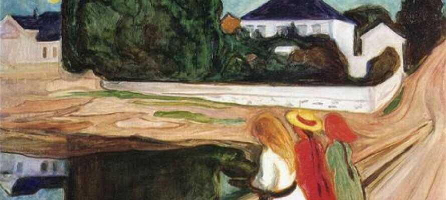 Edvard Munchs hus framstår i dag som museum hvor alt er bevart slik det var da kunstneren bodde der.