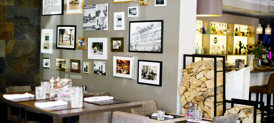 Hotellets elegante og stemningsfulde restaurant Söbentein serverer god mad baseret på årstidens friske råvarer.