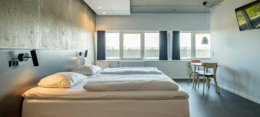 Zleep Hotel Aarhus er moderne indrettet og skaber en god base for jeres miniferie i Aarhus