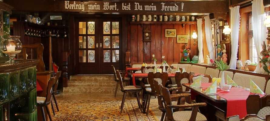 Hotel zum Bürgergarten er innredet i en 300 år gammel bygning, og hotellet byr på en smakfull og rustik atmosfære.