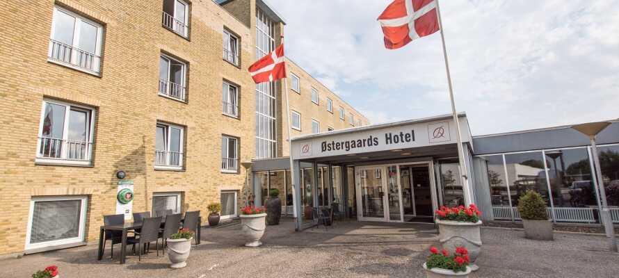 Das Østergaards Hotel liegt zentral in der  Textilstadt Herning.