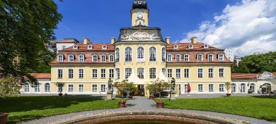 Gohlis-slottet er en arkitektonisk perle, som ble konstruert som borgerskapets sommerresidens i midten av det 18. århundre.