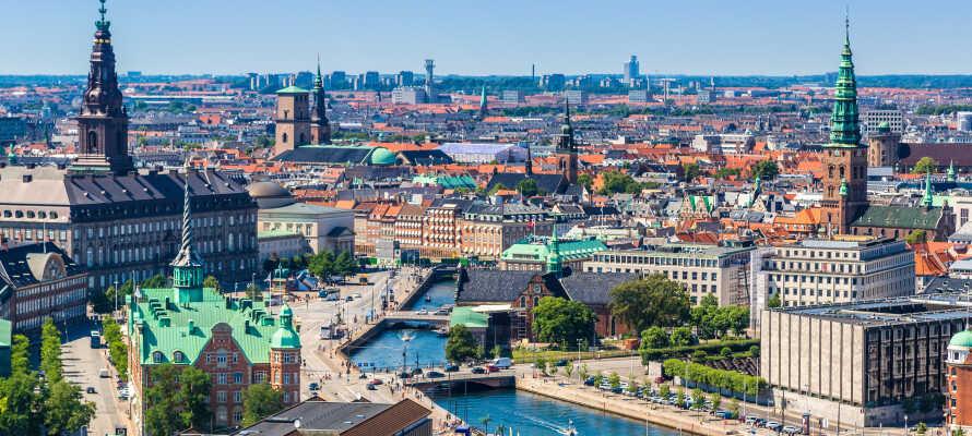 Den korte afstand til København, gør hotellet til et godt udgangspunkt for storbyoplevelser, med sightseeing i den smukke hovedstad.