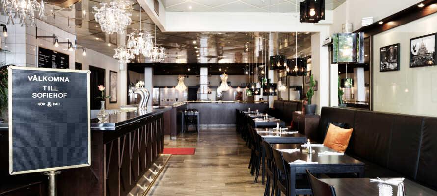 Restauranten er blevet et populært spisested såvel for hotelgæster som for de lokale borgere i Jönköping.