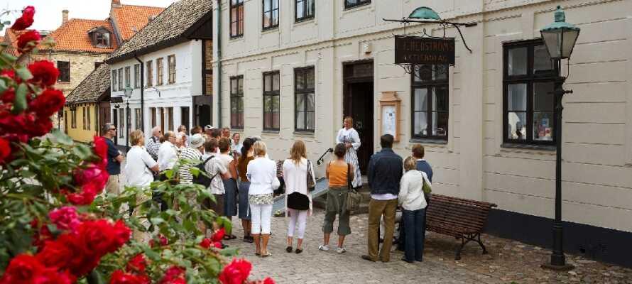 Besök Sveriges näst största friluftsmuseum, Fredriksdal museer och trädgårdar, och få en spännande inblick i historien.