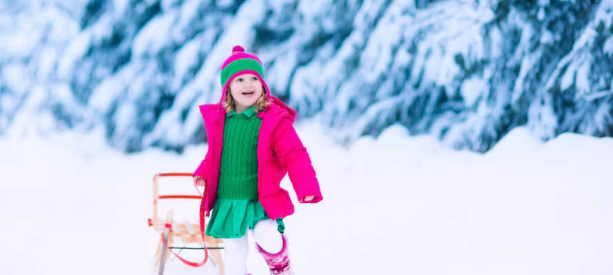 Det perfekte sted at holde vinterferie med familien i sneen.