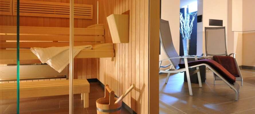 Det er lagt opp til ro og velvære med velvære i hotellets stilfulle rammer.