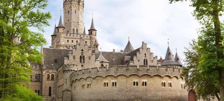 Ungefär 15 kilometer från hotellet ligger äventyrsslottet Marienburg som är en helt unik pärla.