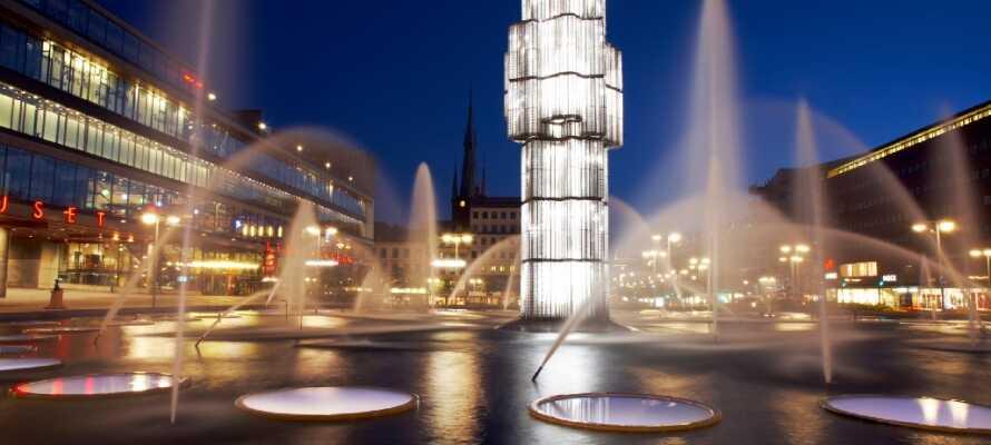 Hotellet ligger i Kista, endast ca 15 km från Stockholm city.