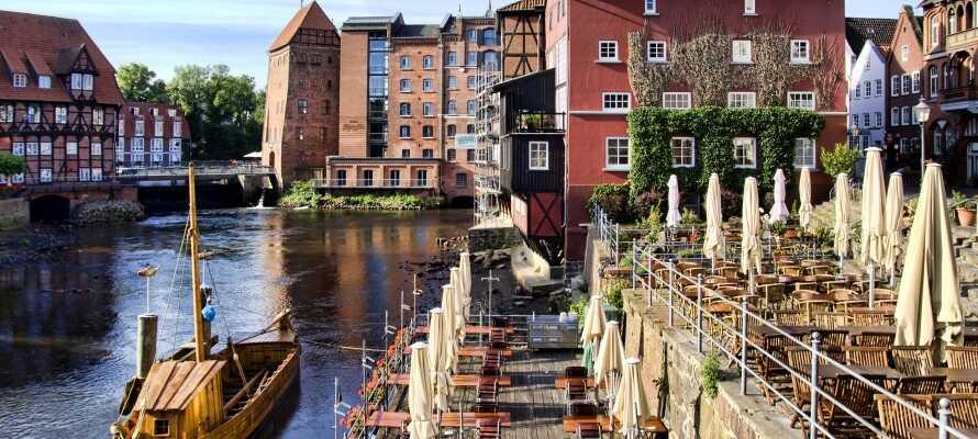 Die mittelalterliche Stadt Lüneburg liegt nur 14 km entfernt und ist der Hauptort der berühmten Lüneburger Heide.