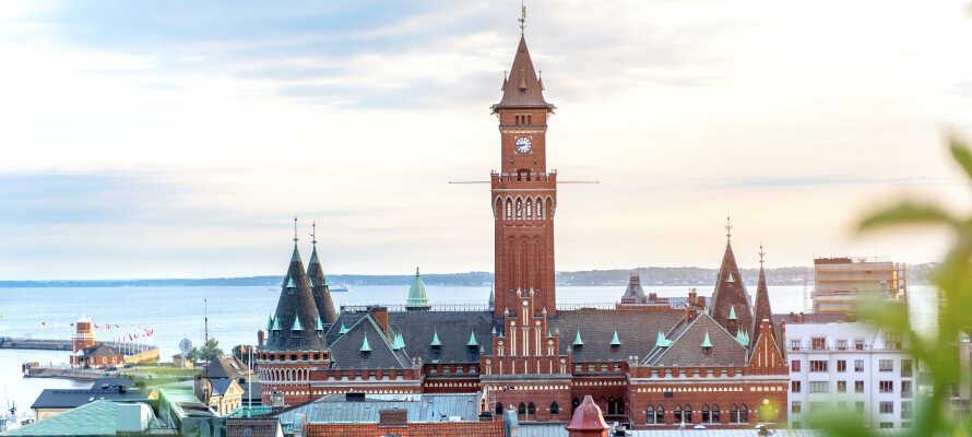 Tag en tur over sundet, og oplev kystbyen Helsinborg, der byder på gode muligheder for shopping og kulturelle oplevelser.