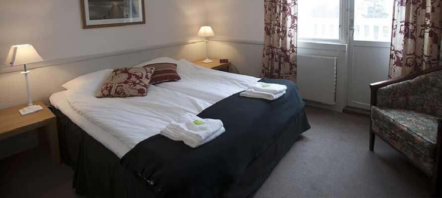 Hotellet har lyse og moderne rom i klassisk stil.