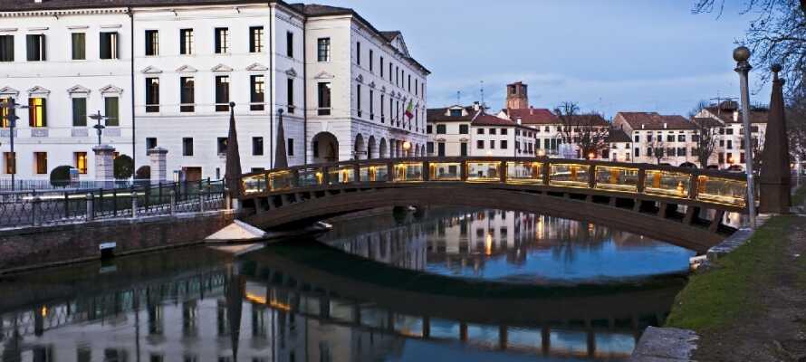 Besök den gömda pärlan, Treviso, som är en vacker och autentisk stad, men som ofta kommer i skugga av Venedig.