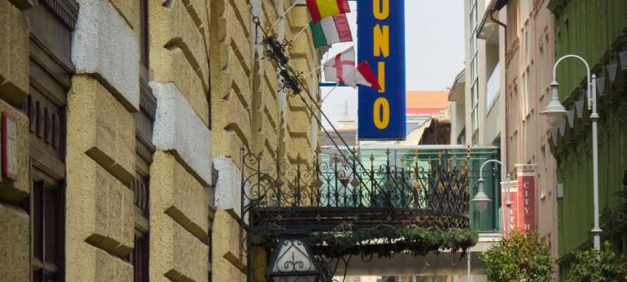 Hotel Unio med sitt centrala läge är en perfekt utgångspunkt för att uppleva Budapest.
