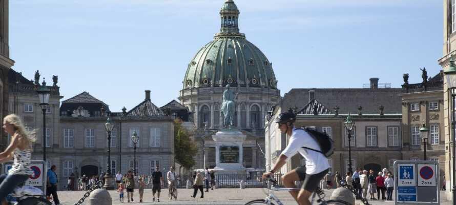 Besök drottningen och Amalienborg och upplev den kungliga stämningen.