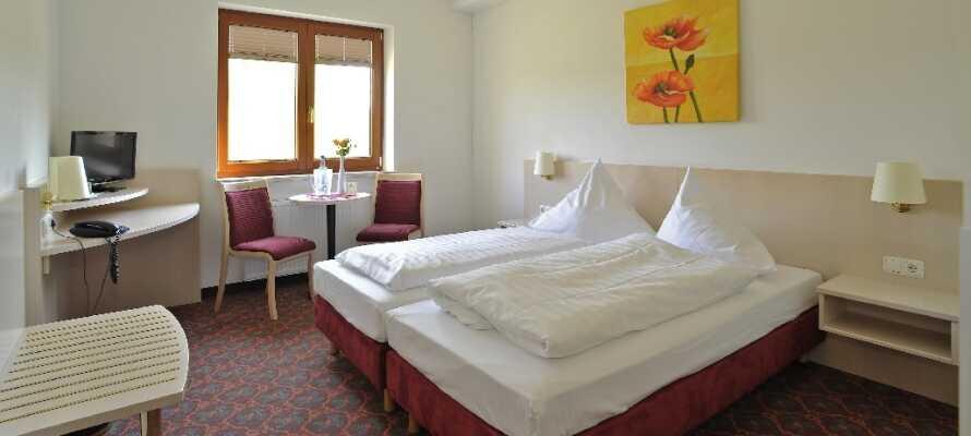 Et af de dejlige værelser, hvor I får en god nats søvn.