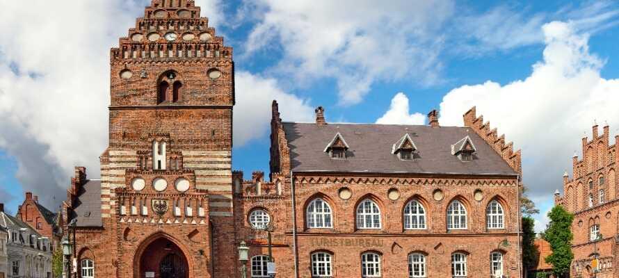 Historiske Roskilde er præget af flere gamle bygninger, som f.eks. det gamle rådhus.