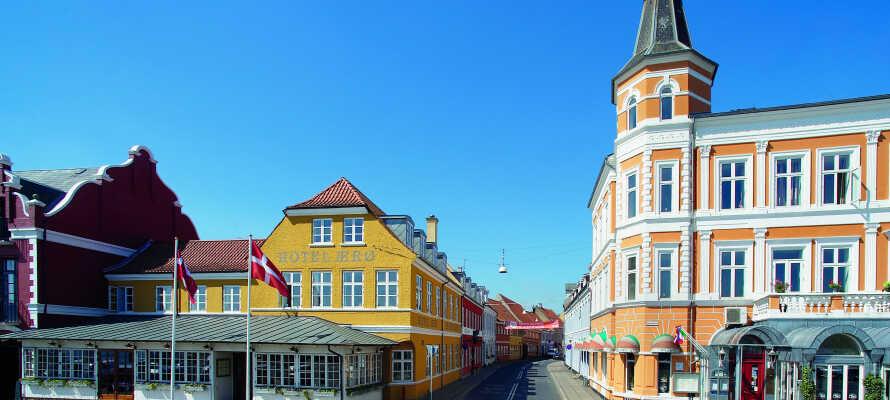 Hotel Ærø ligger i det charmerende og hyggelige latinerkvarter, Svendborgs ældste bydel.