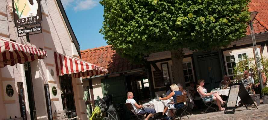 Odense ligger en halv times kørsel fra hotellet. Gå på opdagelse i H.C. Andersens Hus og besøg museet om eventyrdigteren.