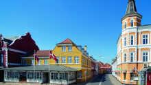 Hotellet har en dejlig beliggenhed i charmerende Svendborg