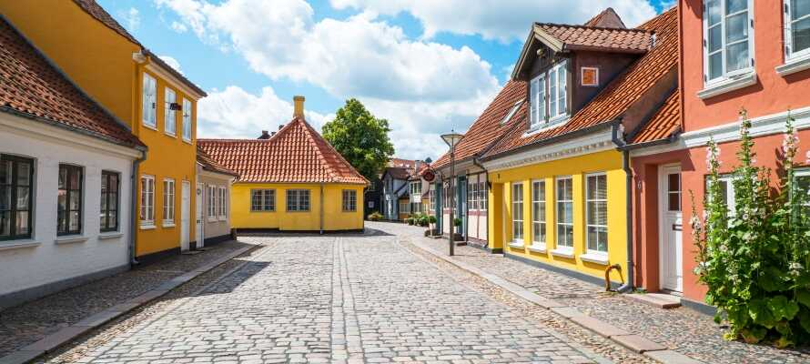 Das historische Viertel ist geprägt von charmanten Kopfsteinpflasterstraßen und schönen Fachwerkhäusern.