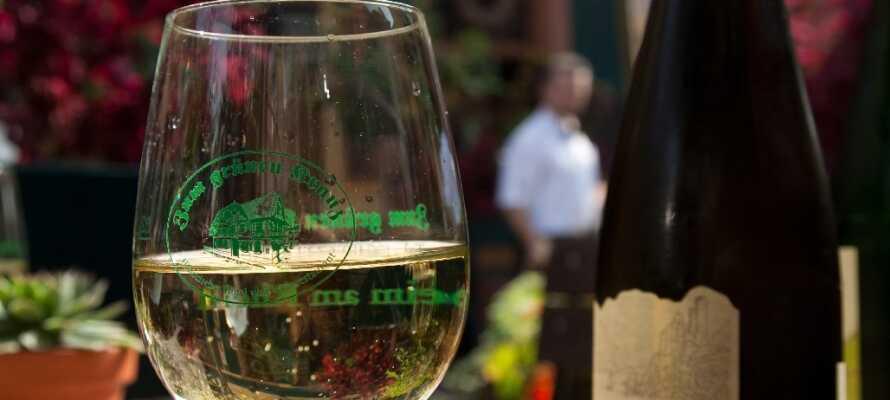 Hotellet har egen vinkjeller og vingård, dere kan kjøpe vin med hjem