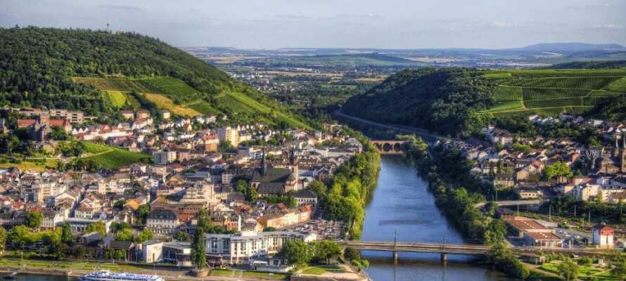 Besøg den idylliske by, Bingen am Rhein, på den anden side af Rhinen, eller kør en tur til Mainz.