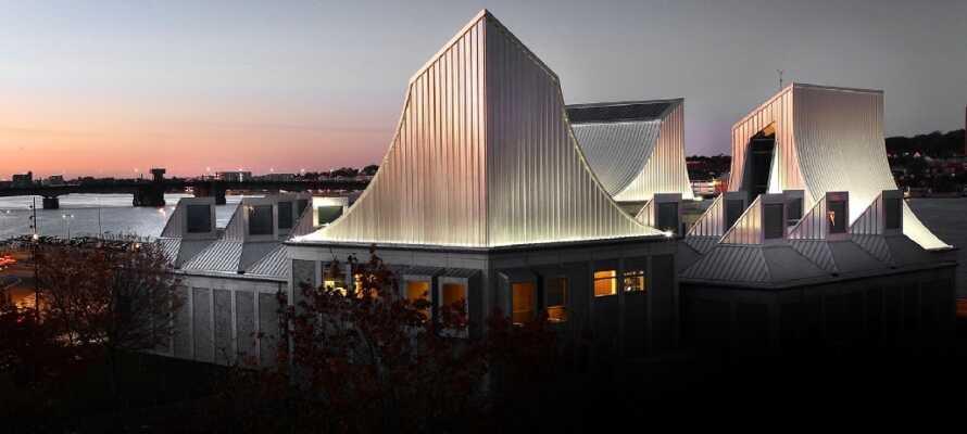 Machen Sie einen Ausflug nach Aalborg und sehen Sie sich zum Beispiel das Historische Museum oder das beeindruckende Utzon-Zentrum an.