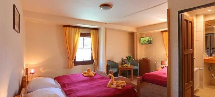 Das Hotel Zeleny Dum ist sehr farbenfroh gestaltet.