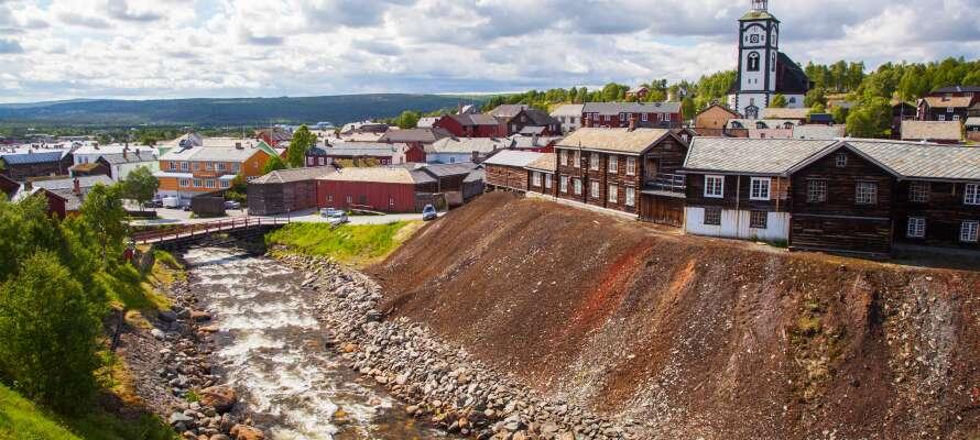 Erzscheidergården Hotell ligger skønt ved siden af byens kirke, i hjertet af den UNESCO-listede norske minedriftsby, Røros